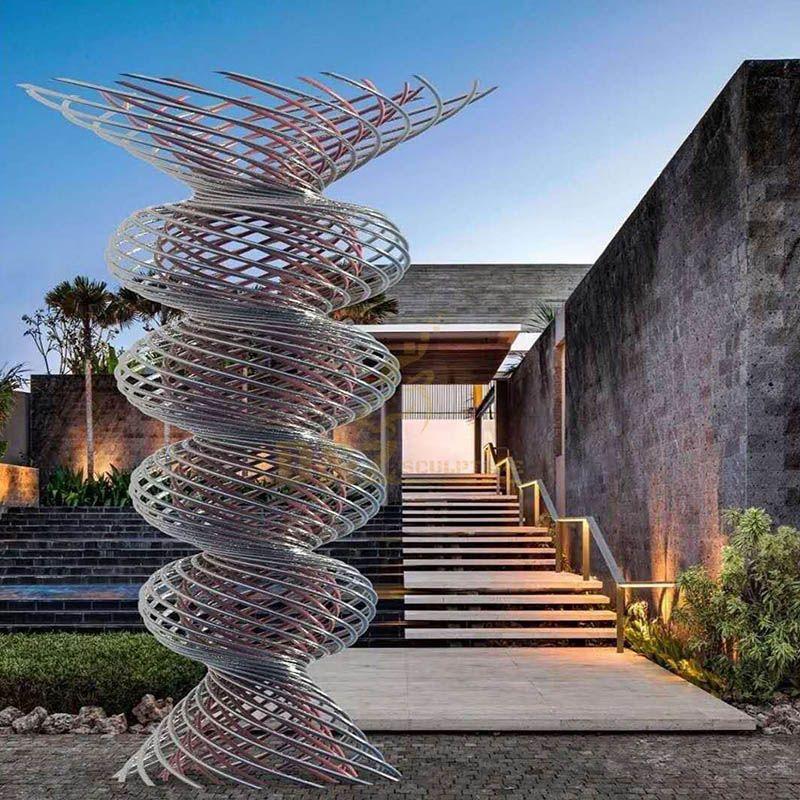Abstract Hollow Metal Stainless Steel Art Sculpture