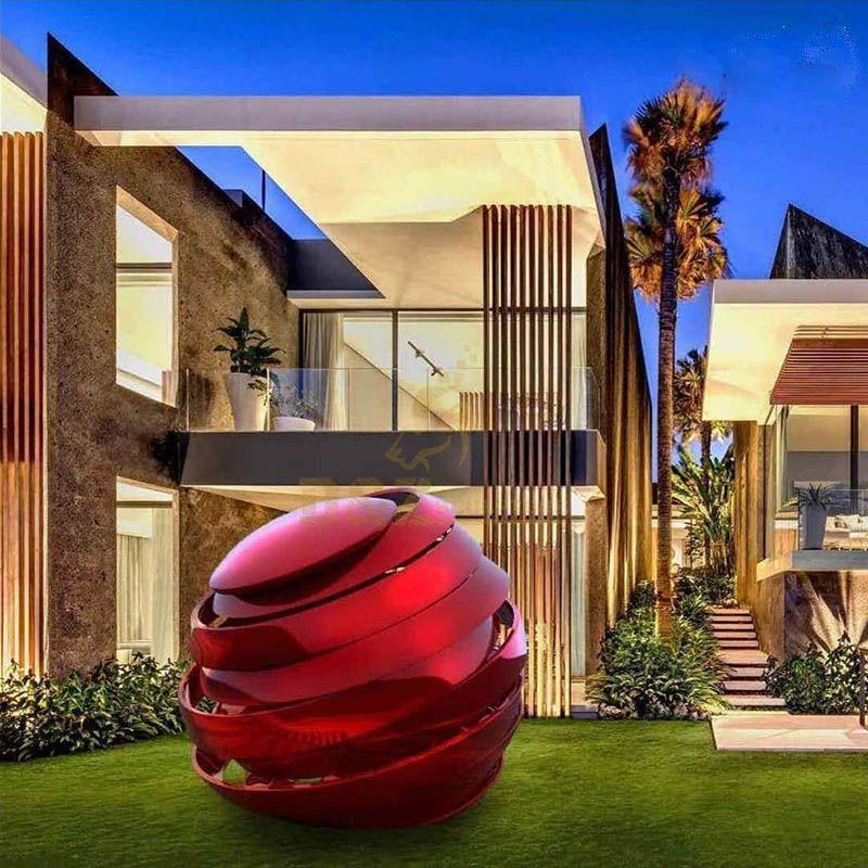Contemporary Garden Metal Balls Stainless Steel Sphere Sculpture