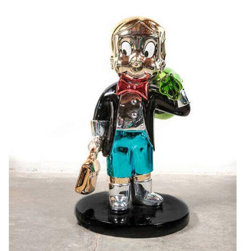 Monopoly Statue Electrto Plated Fiberglass Statue