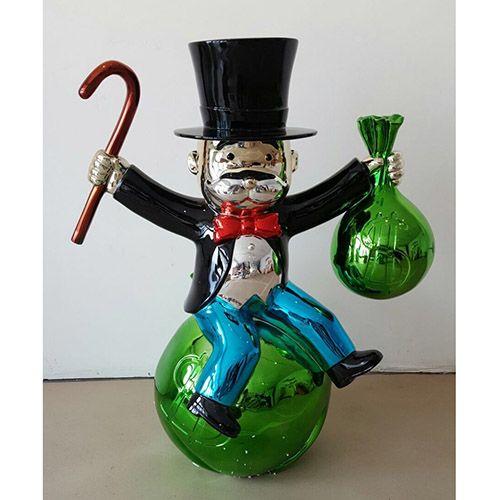 Monopoly Richie Rich Money Cone Statue Fiberglass Sculpture