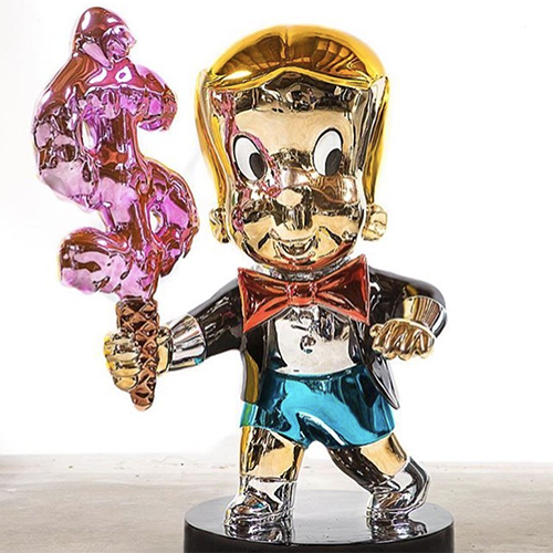Lovely Alec Rich Monopoly Stuff Fiberglass Chrome Sculpture