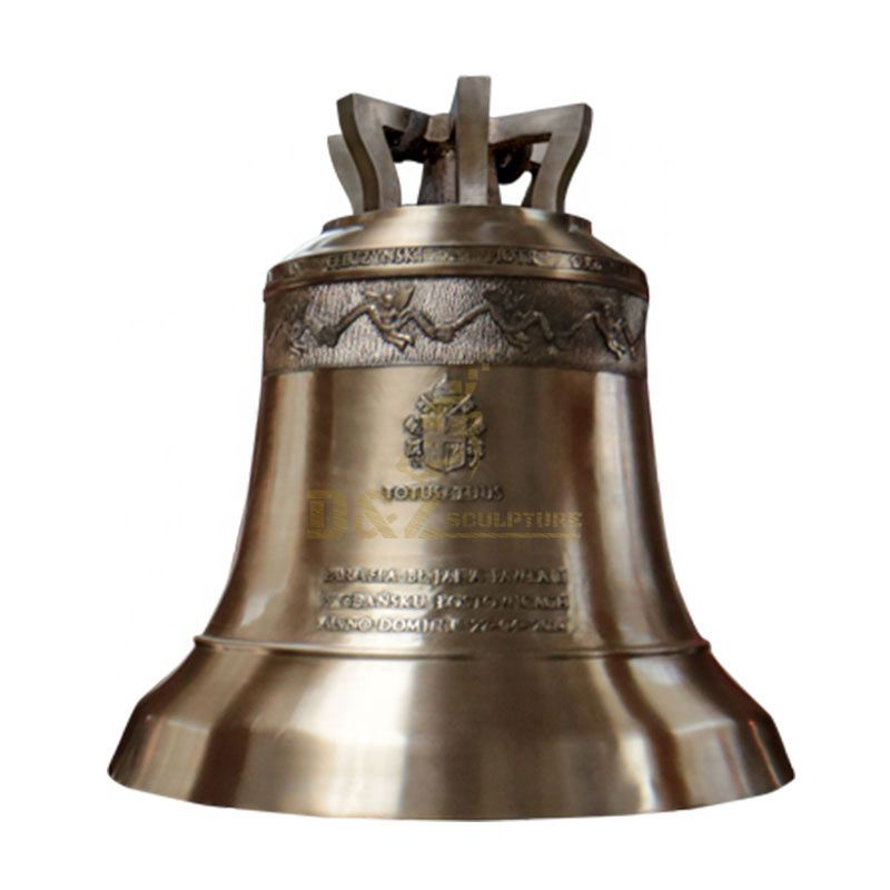New Products Brass Church Bell Statue On Market