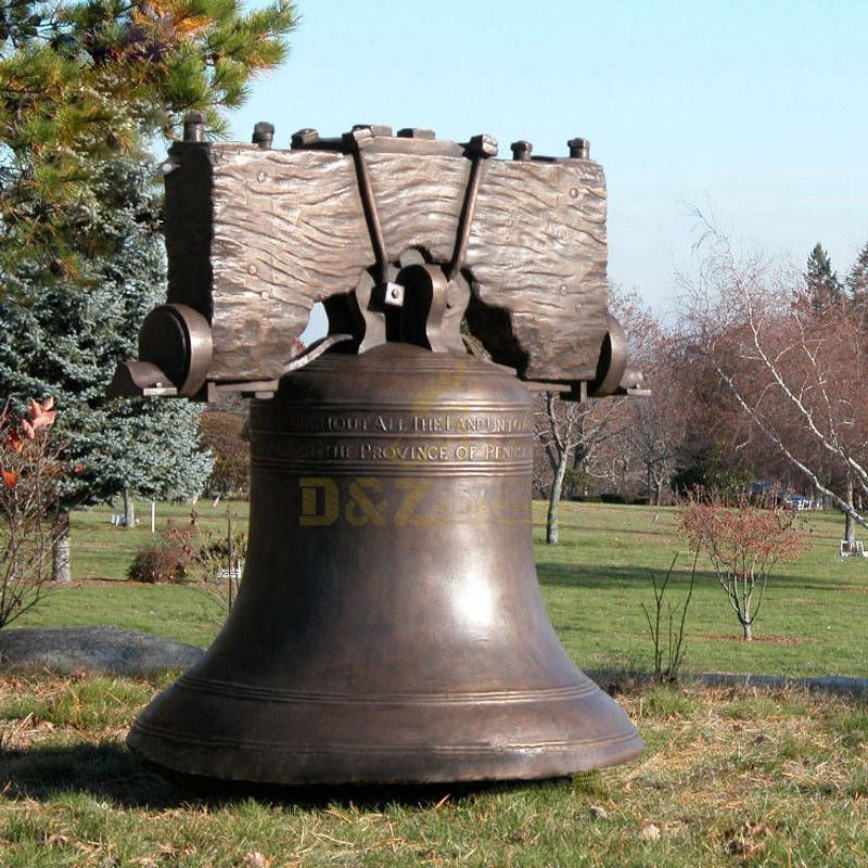 Outdoor Life Size Metal Church Bronze Large Bell
