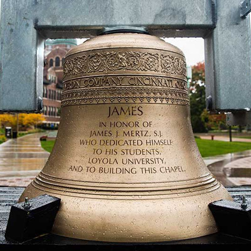 Large Bronze Bell Statue Religious Sculpture