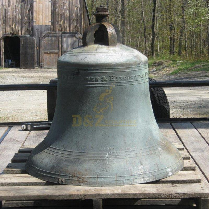 Large Bronze Bell Statue Religious Sculpture