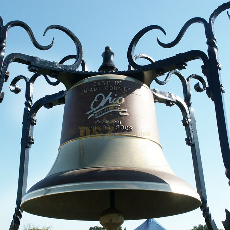 Custom-made Antique Metal Craft Large Bronze Church Bell