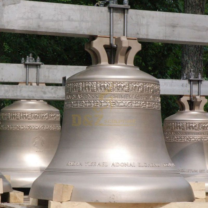 Large Size Antique Style Bronze Bell Statue
