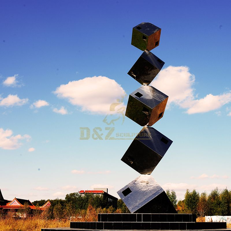 Stainless Steel Cube For Home Decorative Geometric Sculpture