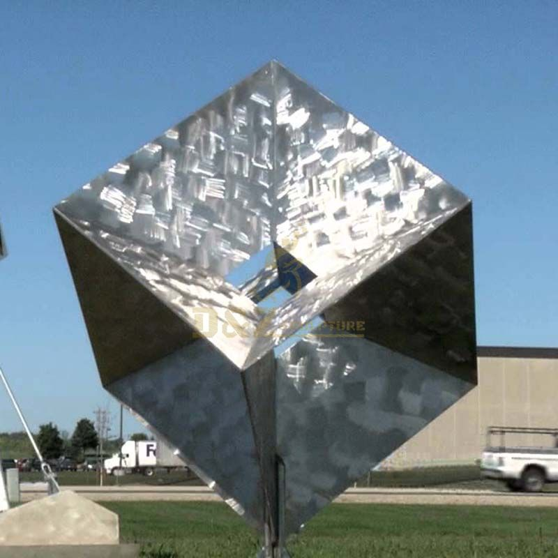 Large outdoor public square decorative huge landmark metal stainless steel sculpture