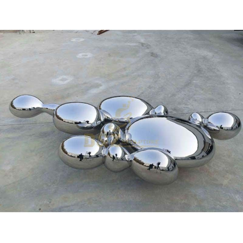 Mirror Stainless Steel Rock Art Sculpture For Decoration