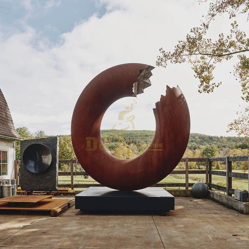 Corten Steel Circle Sculpture for Outdoor Decoration