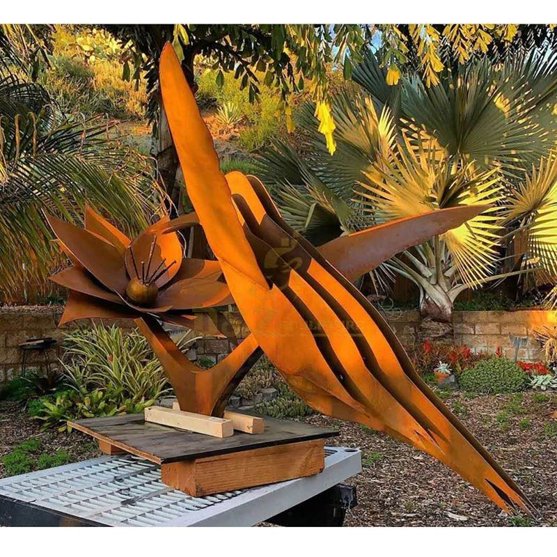 Metal Sculpture Outdoor Corten Steel Bird Sculpture