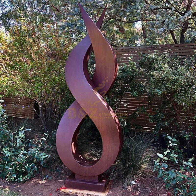Park Landscape Hand Shape Corten Steel Sculpture
