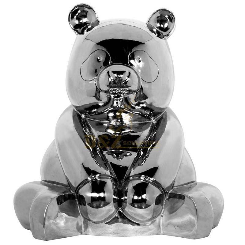 Innovative Modern Abstract Metal Art Panda Sculpture