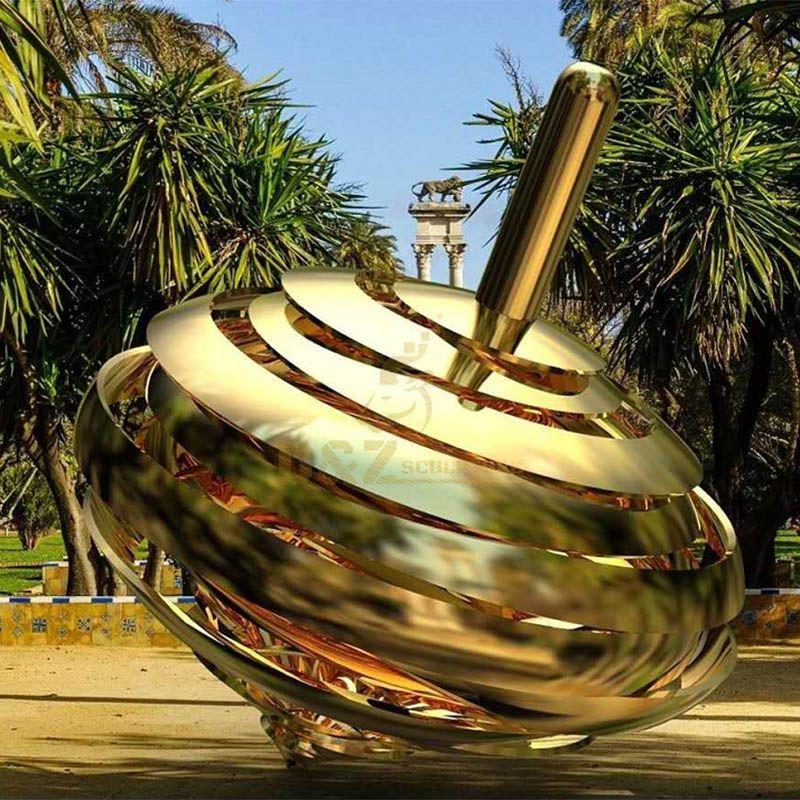 Stainless Steel Sculpture Mirror Statue Modern Artwork