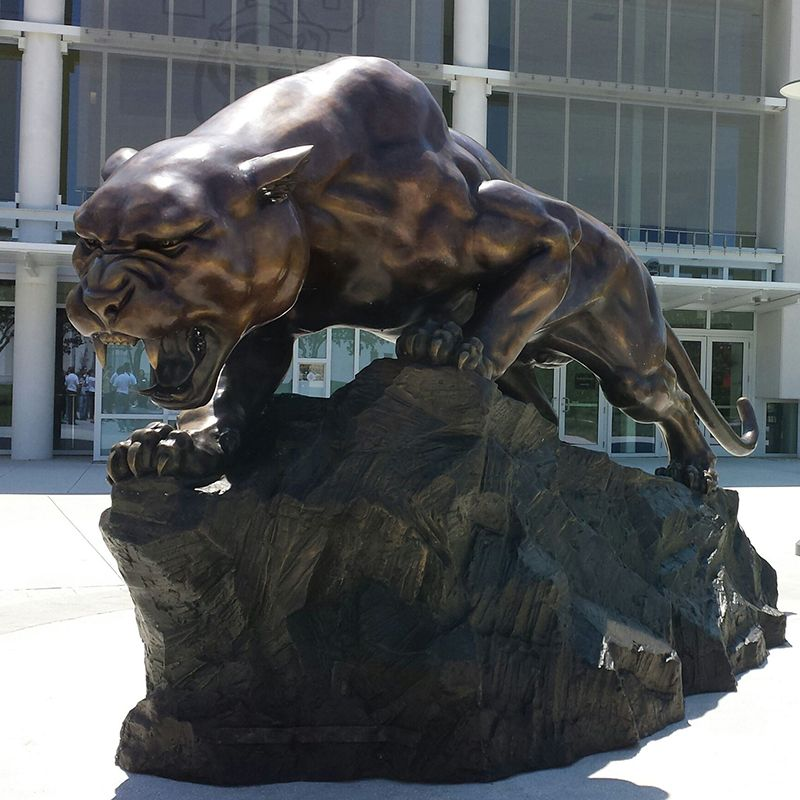 High quality cheap large brass animal statue bronze panthers sculpture