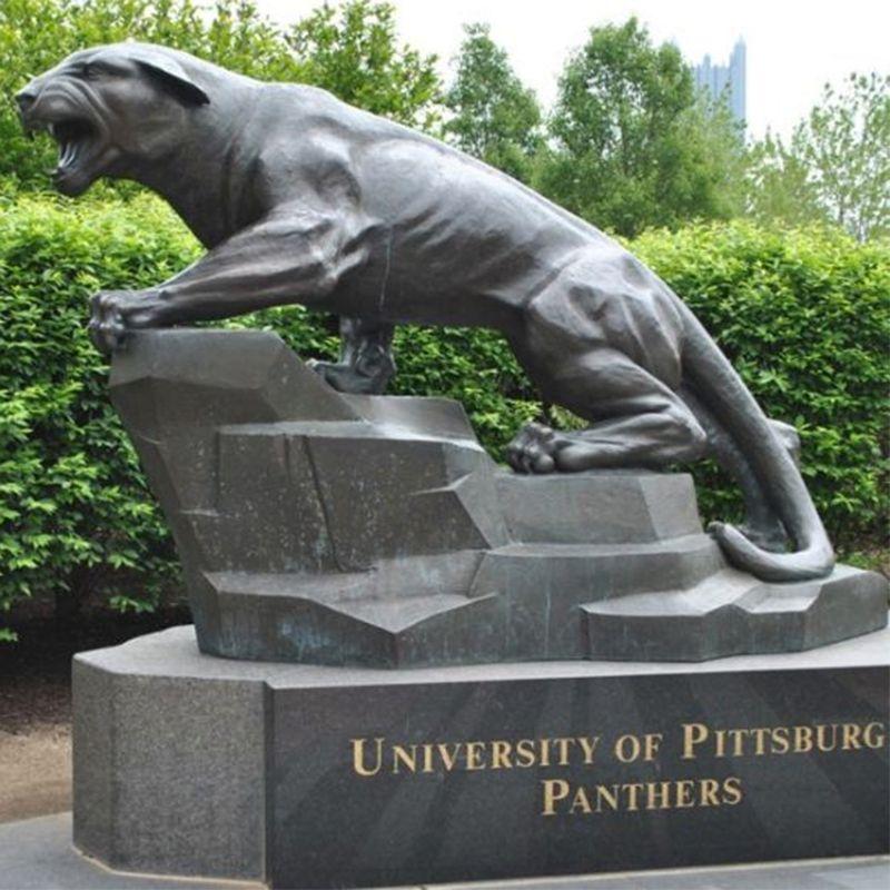 life size metal art sculptures animals panther casting bronze leopard statue