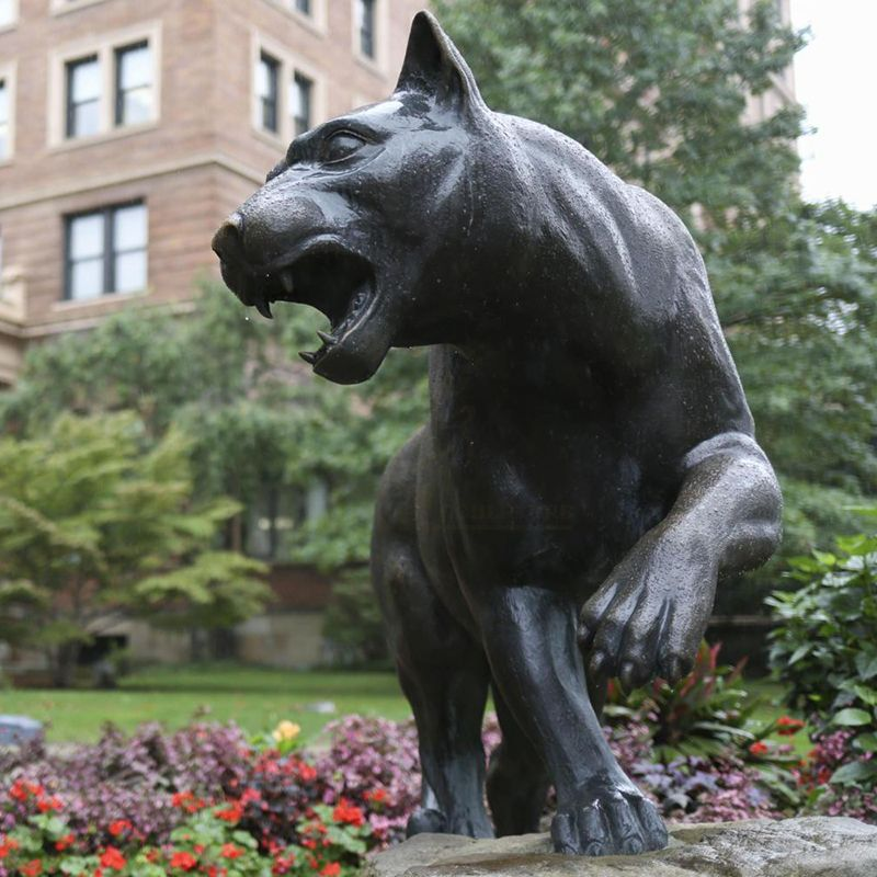 Brand new african bronze panther sculptures