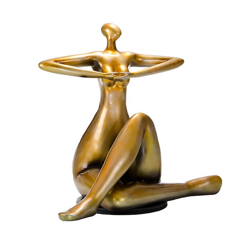 Hot selling bronze sculpture yoga fat lady with low price