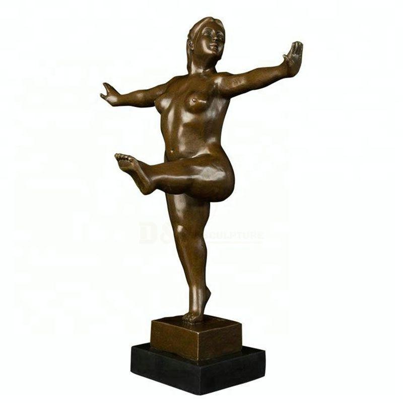 Bronze Sculpture Yaga Fat Lady Sculpture