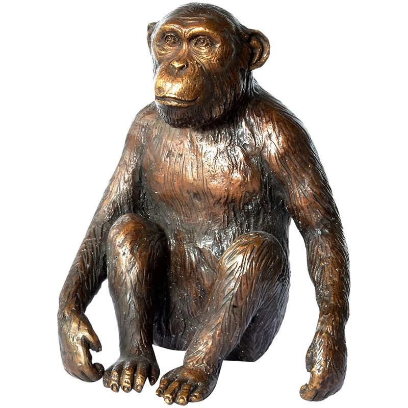 Large Metal Craft Life Size Bronze Monkey Sculpture
