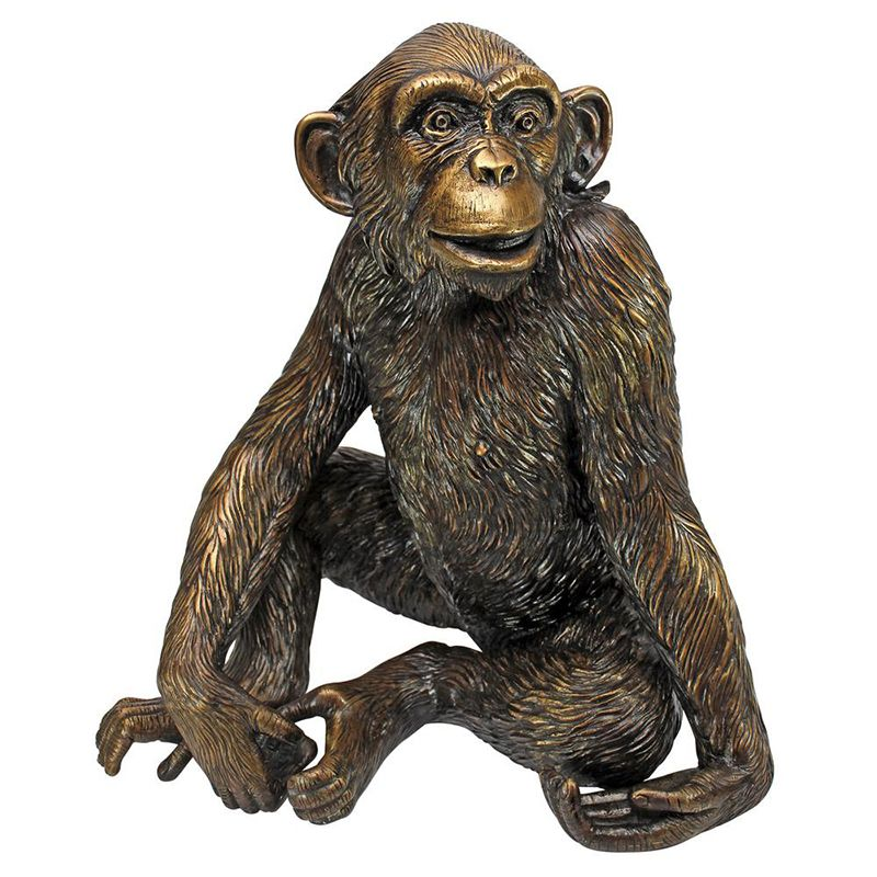 Home Decoration Animal Sculpture Life Size Bronze Monkey Statue