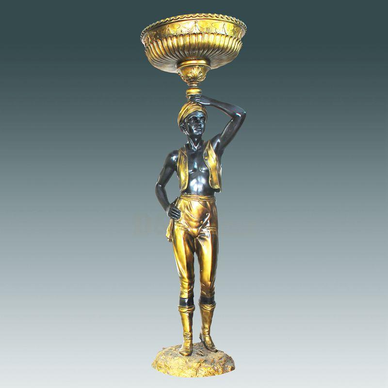 Bronze Sculpture Lamp For The Hotel  Metal Sculpture