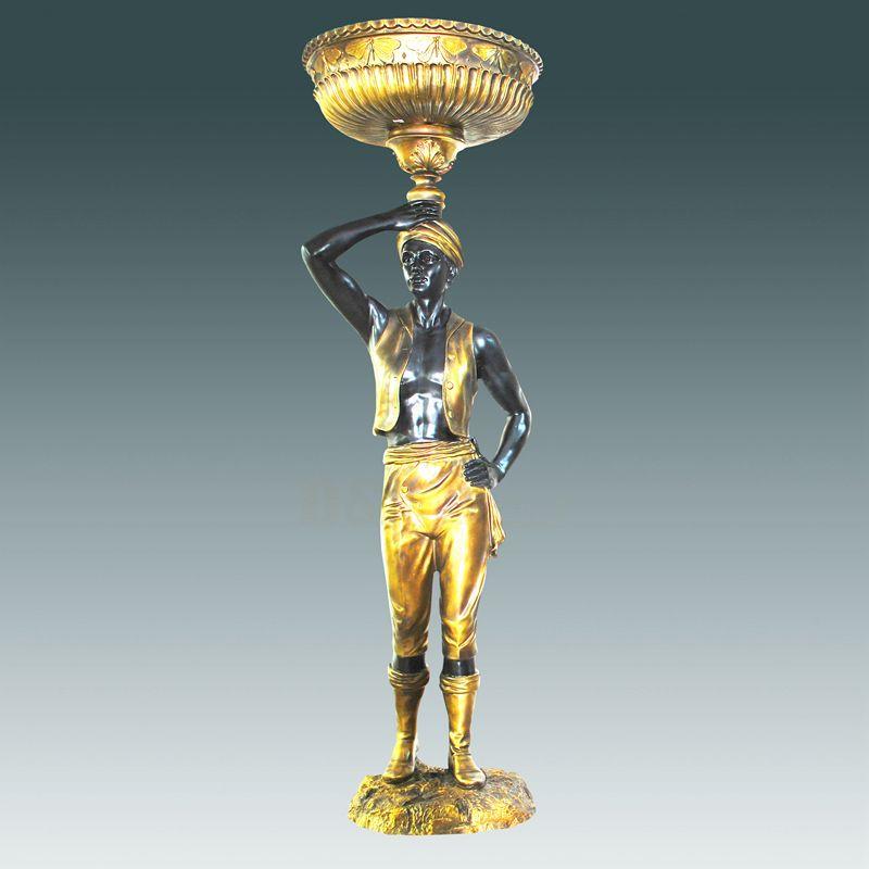 Bronze Foundry Brass Lamp Sculpture