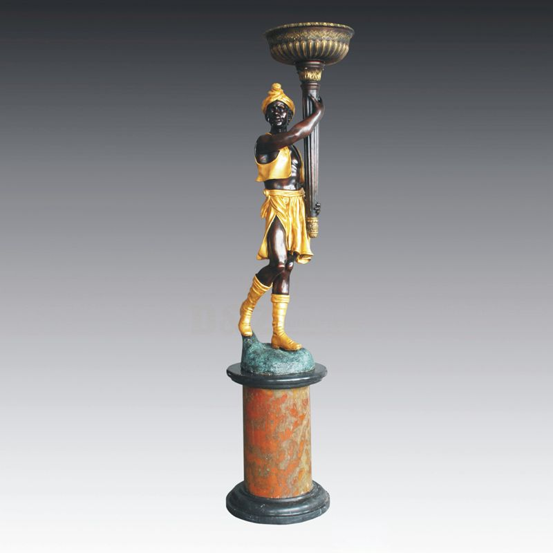 High Quality Home Decor Bronze Sculpture Lamps