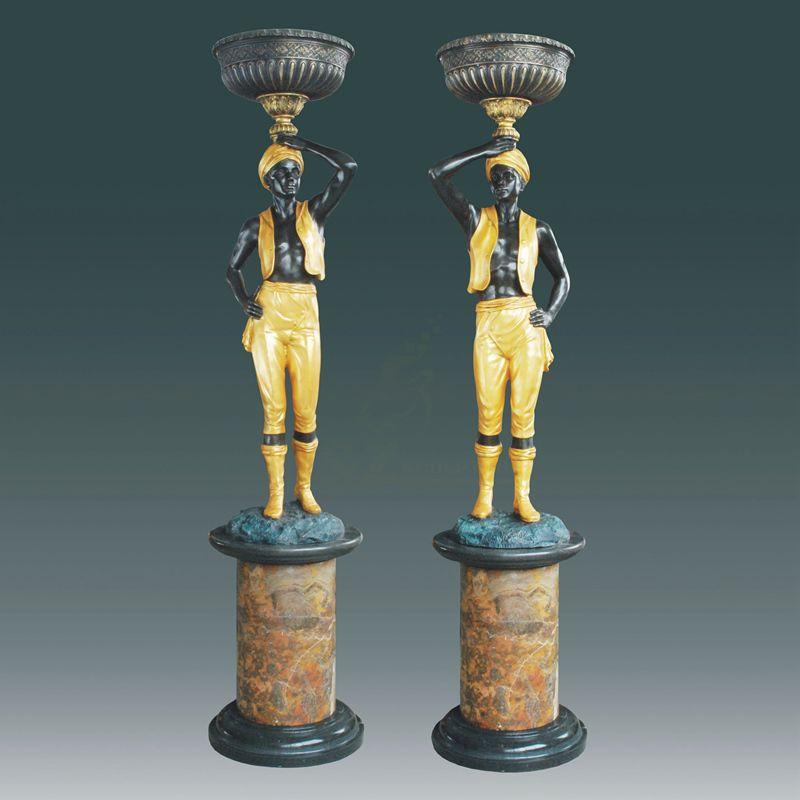 Life Size Home Decoration Bronze Lamps Statue