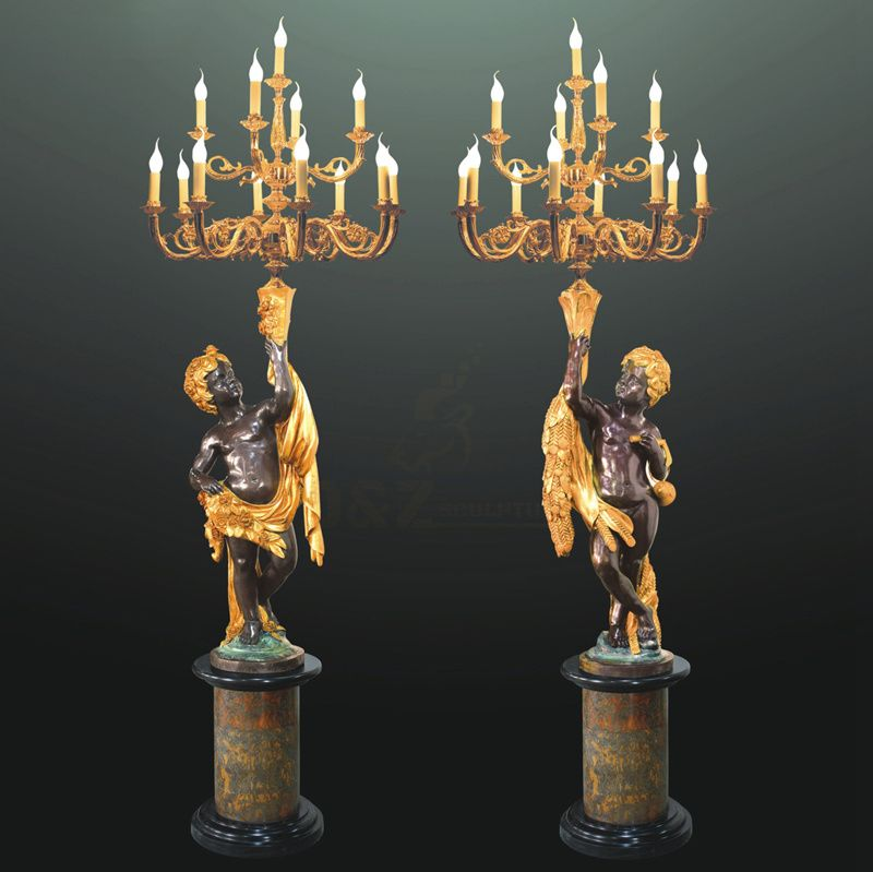 Home Decoration Life Size Bronze Lamp Sculpture