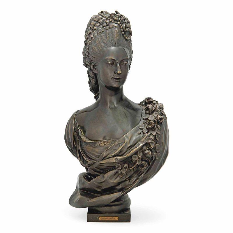 Woman Bronze Bust Statue Custom Bronze Sculpture