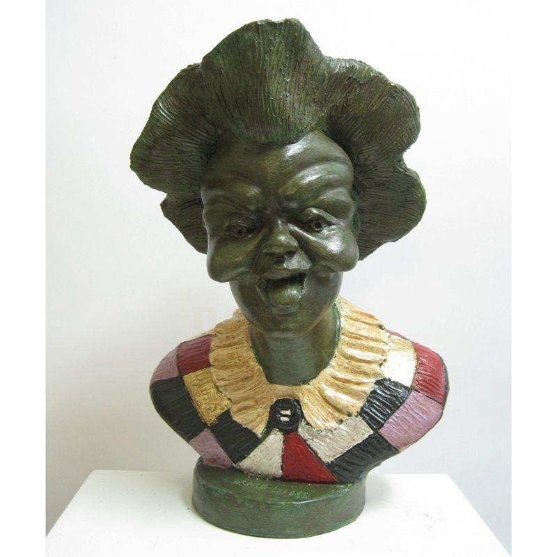 Indoor bronze cute kind grandma bronze bust sculpture