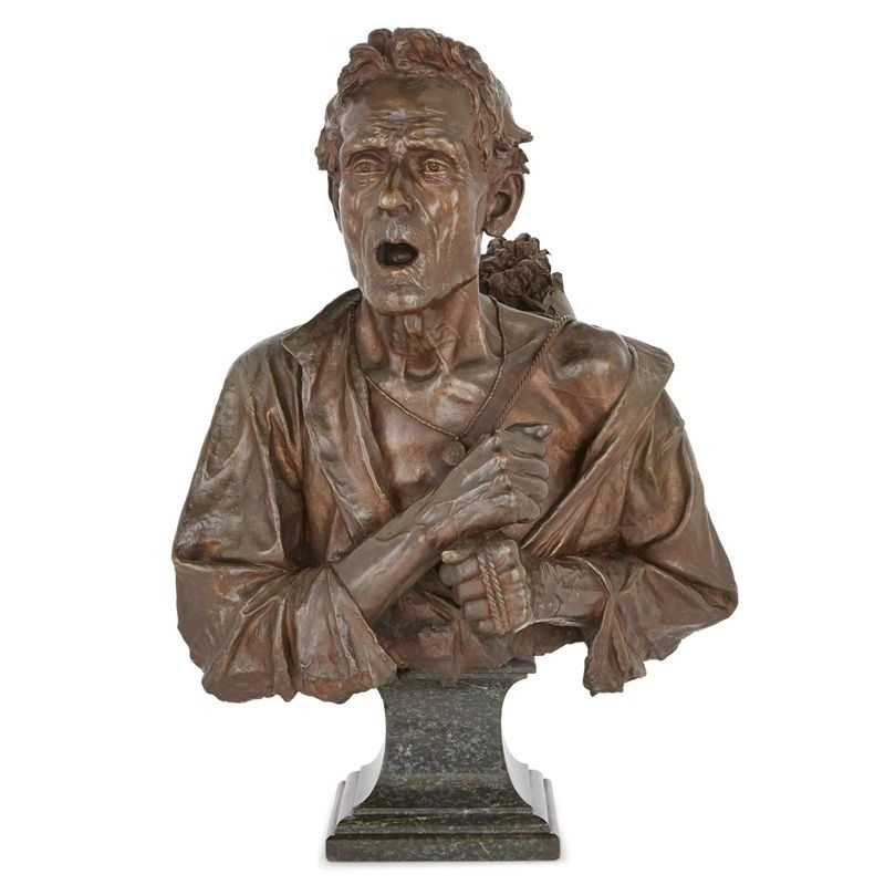 Best Selling Items Bronze Old Man Bust Statue