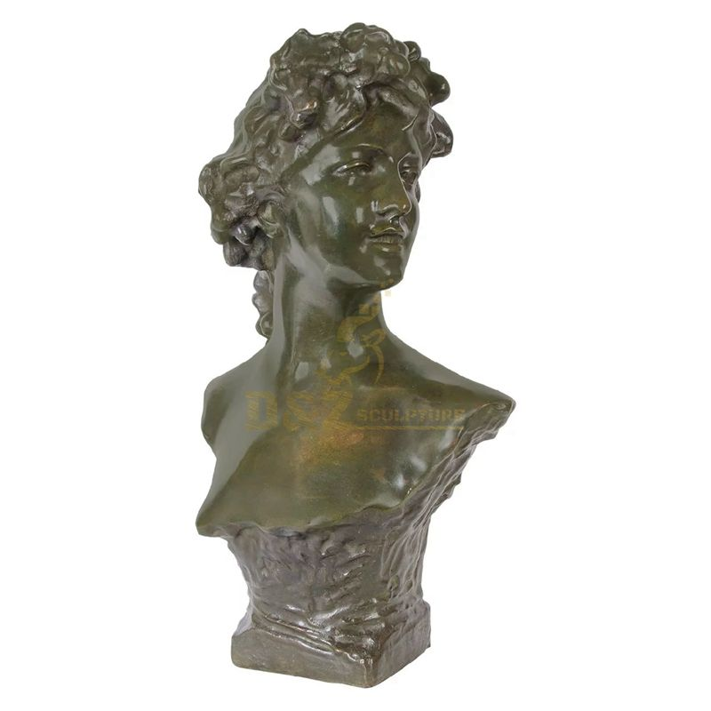 Home Ornament Products Bronze Girl Bust Statue