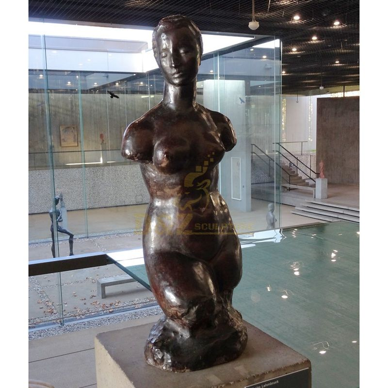 Home Decoration Bronze African Nude Girl Bust Sculpture