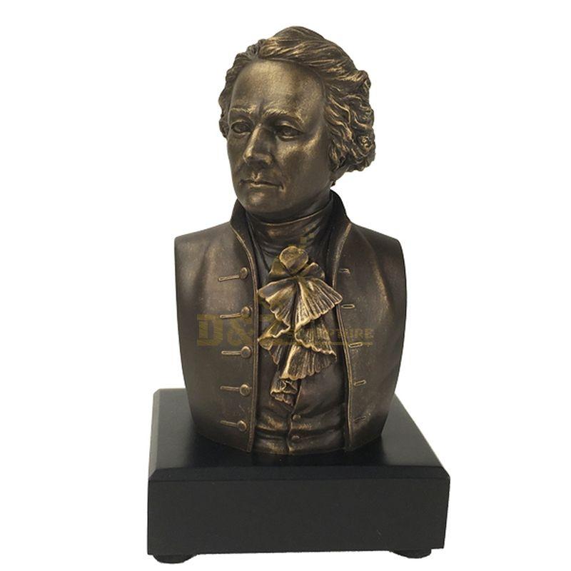 Factory European Decoration Bronze Man Bust Sculpture