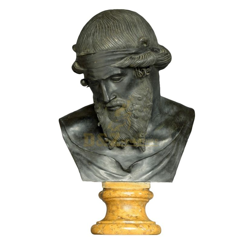 Western Style Famous Bronze Plato Bust