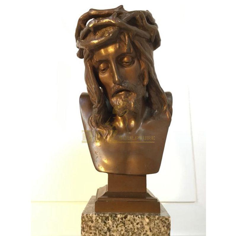Indoor Famous Bust Sculpture Brass Metal Jesus Figure