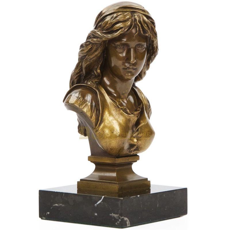 Classic Outdoor Bronze Statue Woman Bust Sculpture