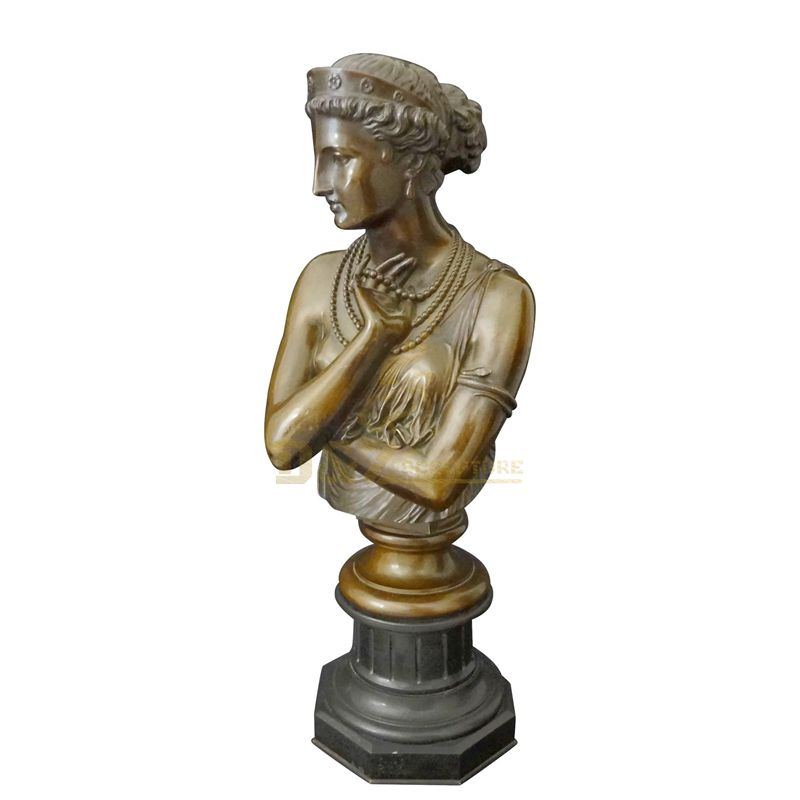 Small Size Woman Statue Brass Figurines Art Bronze Bust Sculpture