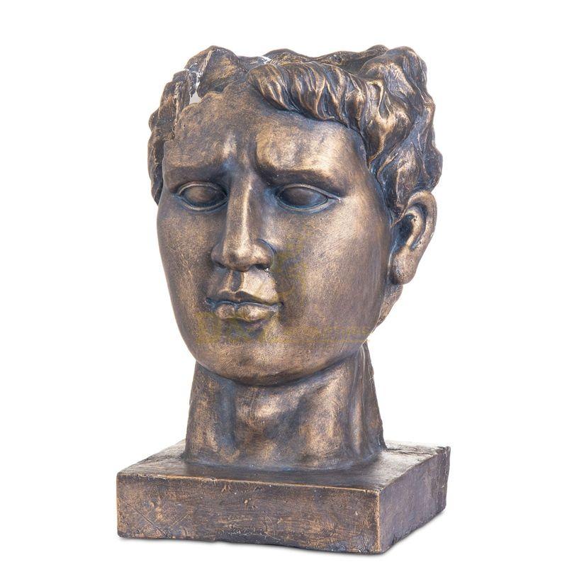 Bust Bronze Male Antique Sculpture