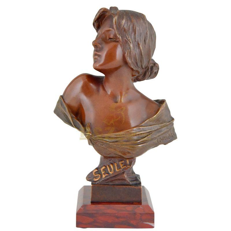 Sexy Nude women bust Bronze Sculpture