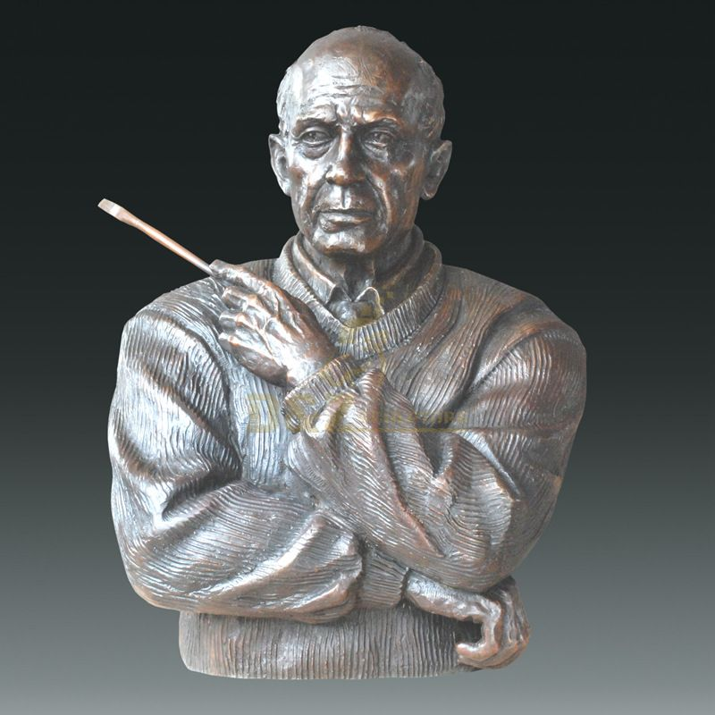 Life size bronze bust statue head custom sculpture