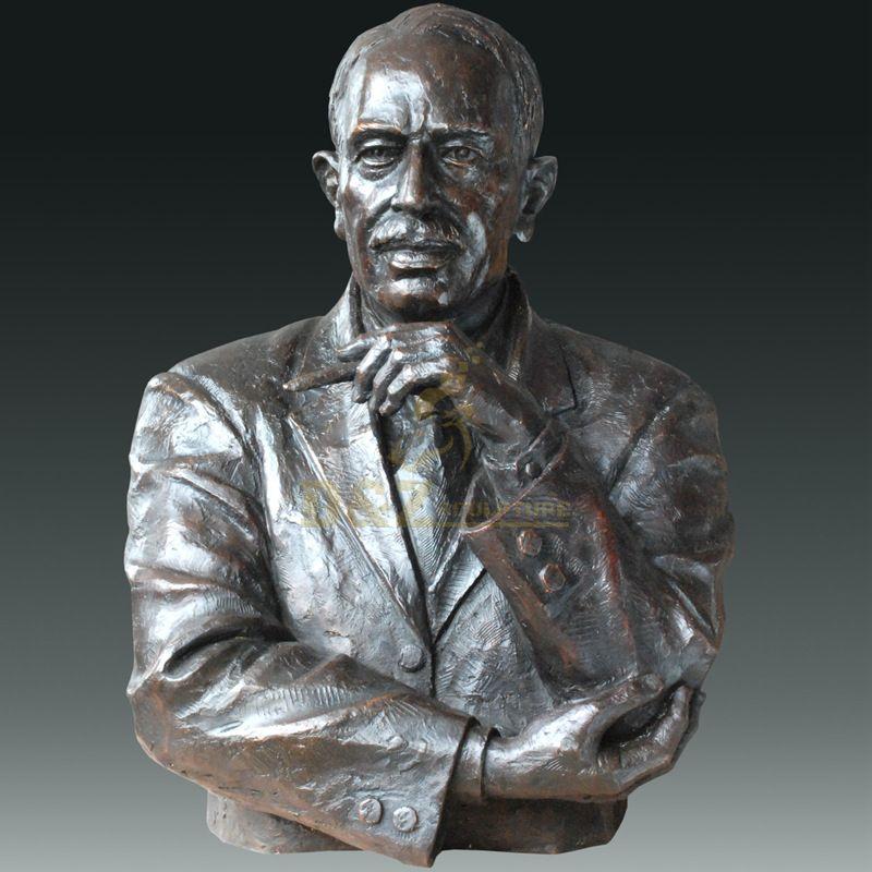 European Antique Bronze Figure Statue Bust Sculpture