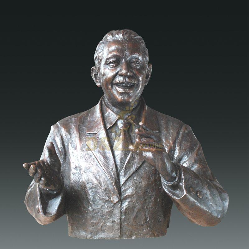 Indoor Decor Bronze Figure Bust Statue