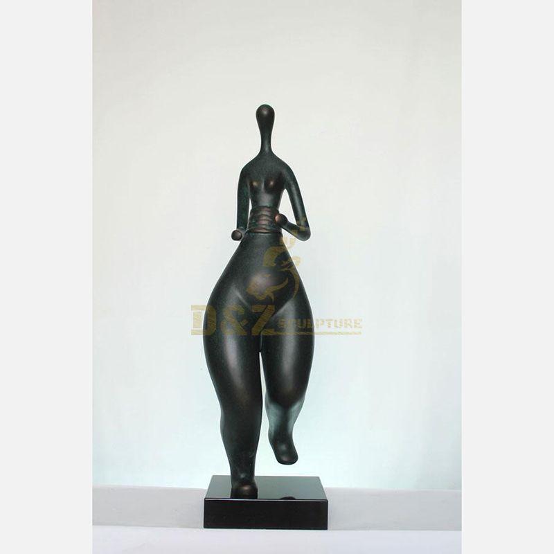 Classic Bronze Figure Sculpture Fat Woman Statue