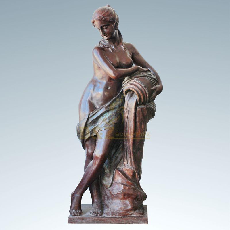 Life Size Metal Art Bronze Woman Statues Art Sculpture