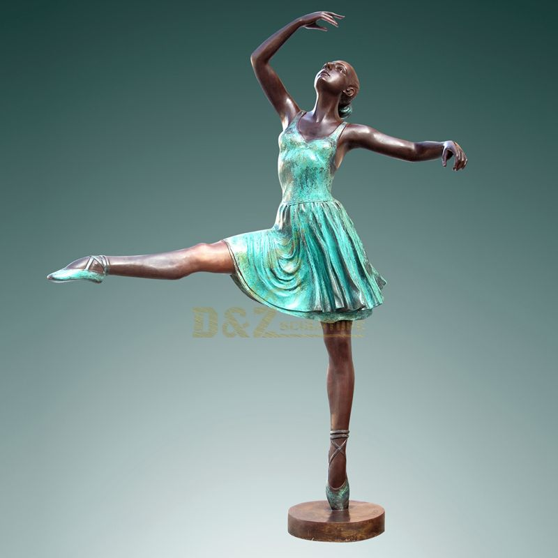Bronze Dance Girl Realistic Famous Women Life size Sculptures