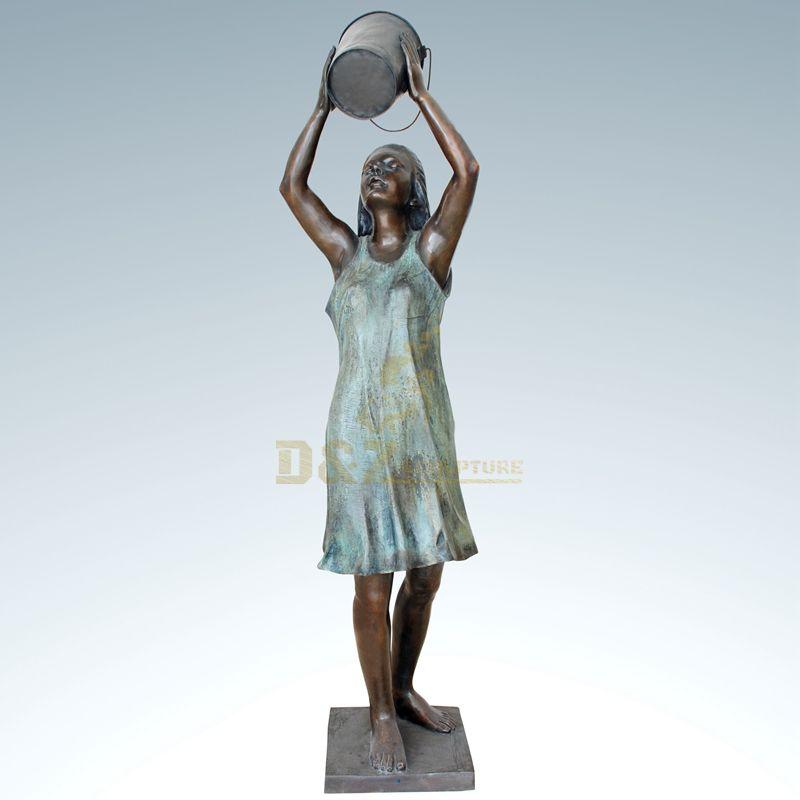 Home Decorative Beautiful Bronze Women Sculpture